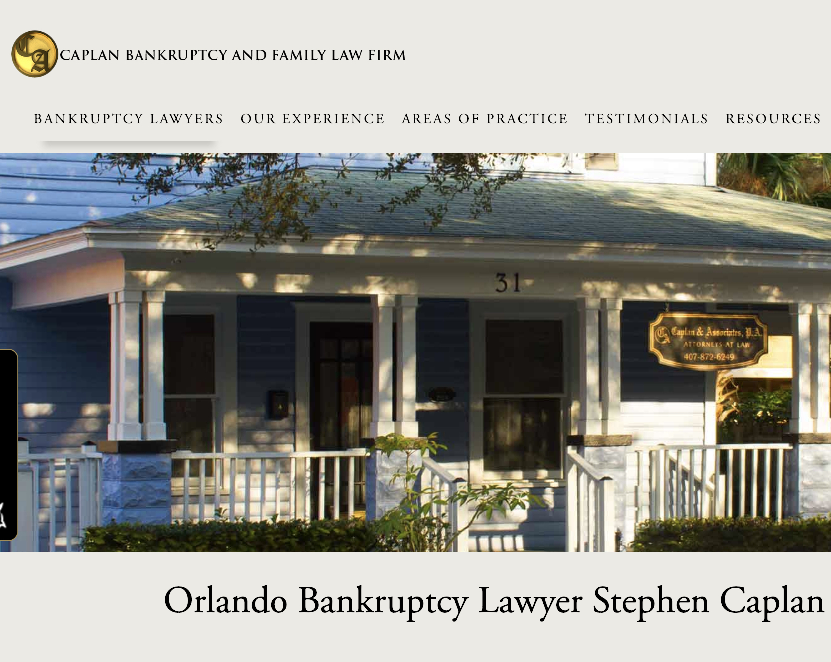 Caplan Bankruptcy and Family Law FIrm, Orlando, FL